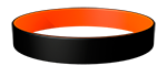 Black/021C Colored Wristband