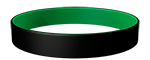 Black/355C Colored Wristband
