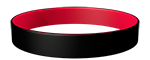 Black/186C Colored Wristband