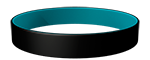 Black/328C Colored Wristband