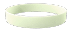 White Colored Wristband