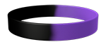 Black/266C Colored Wristband