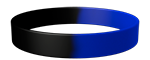 Black/072C Colored Wristband