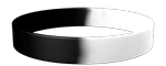 Black/White Colored Wristband