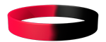 186C/Black Colored Wristband