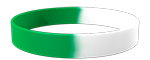 White/355C Colored Wristband
