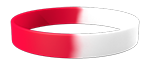 White/186C Colored Wristband