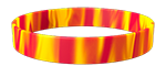 186C/YellowC Colored Wristband